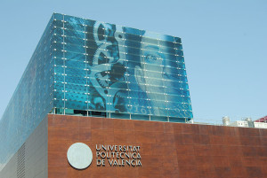 Cubo azul Ciudad Politécnica de la Innovación en Universitat Poiltècnica de València